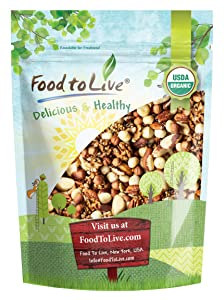 Organic Keto Raw Nuts Mix, 1 Pound — Keto Snack Contains Non-GMO Brazil Nuts, Pecans, Walnuts, Hazelnuts and Macadamia Nuts, Low Carb Vegan Superfood, Kosher, Non-Irradiated, No Added Sugar, Bulk