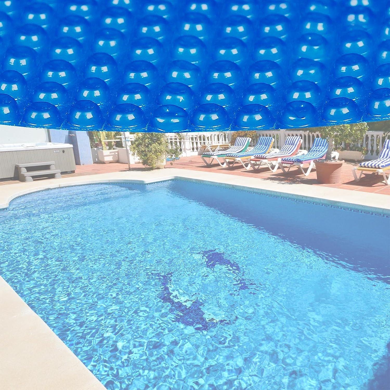 Bâche solaire à bulles pour piscine Ronde Ø 3.6m Bleue Protection Couverture Chauffage de piscine WilTec