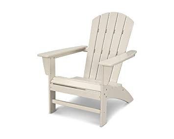 amazon com polywood nautical adirondack chair sand garden