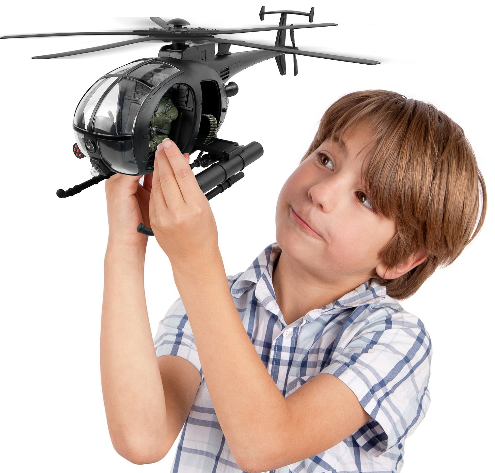 Click N' Play Military Attack Combat Helicopter 20 Piece Play Set With Accessories. by Click N'' Play (Image #4)