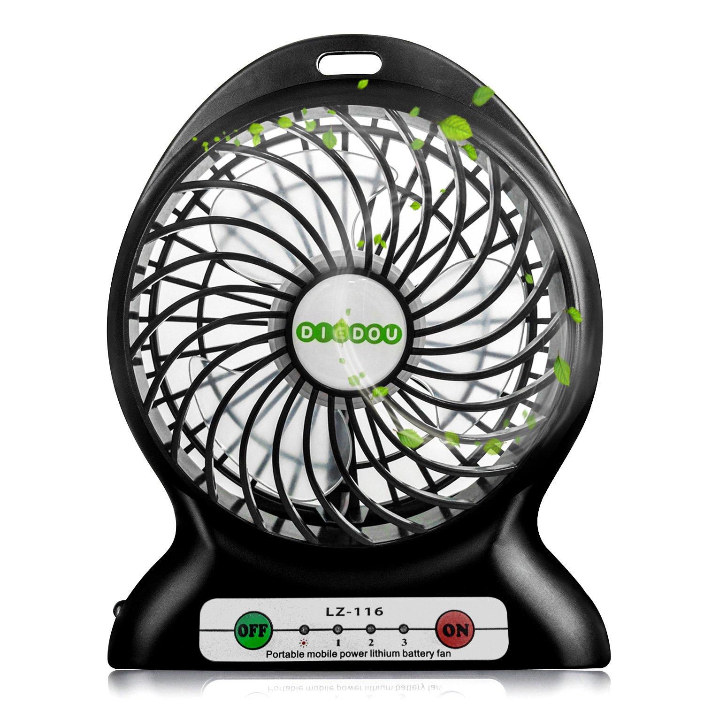 amazon com portable fan battery powered fan usb mini desk fan small
