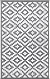 Green Decore, tappetino ecologico in plastica riciclata, modello Nirvana, per interni ed esterni, leggero e reversibile, plastica, Grey / white, 90 x 150 cm