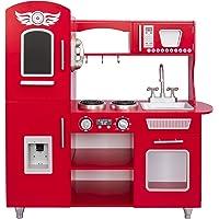 Kids House Cocina de Madera Roja -Deluxe Vintage Red- Cocina de Juguete