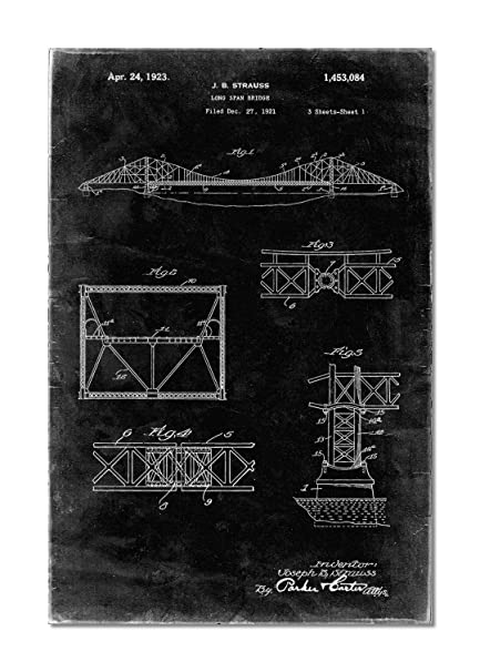 Golden Gate Bridge Patent Poster