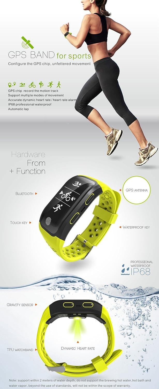 Pulsera inteligente anfibia, colección inteligente S908, una variedad de modos deportivos, con chip GPS, pista de grabación, control de frecuencia cardíaca ...