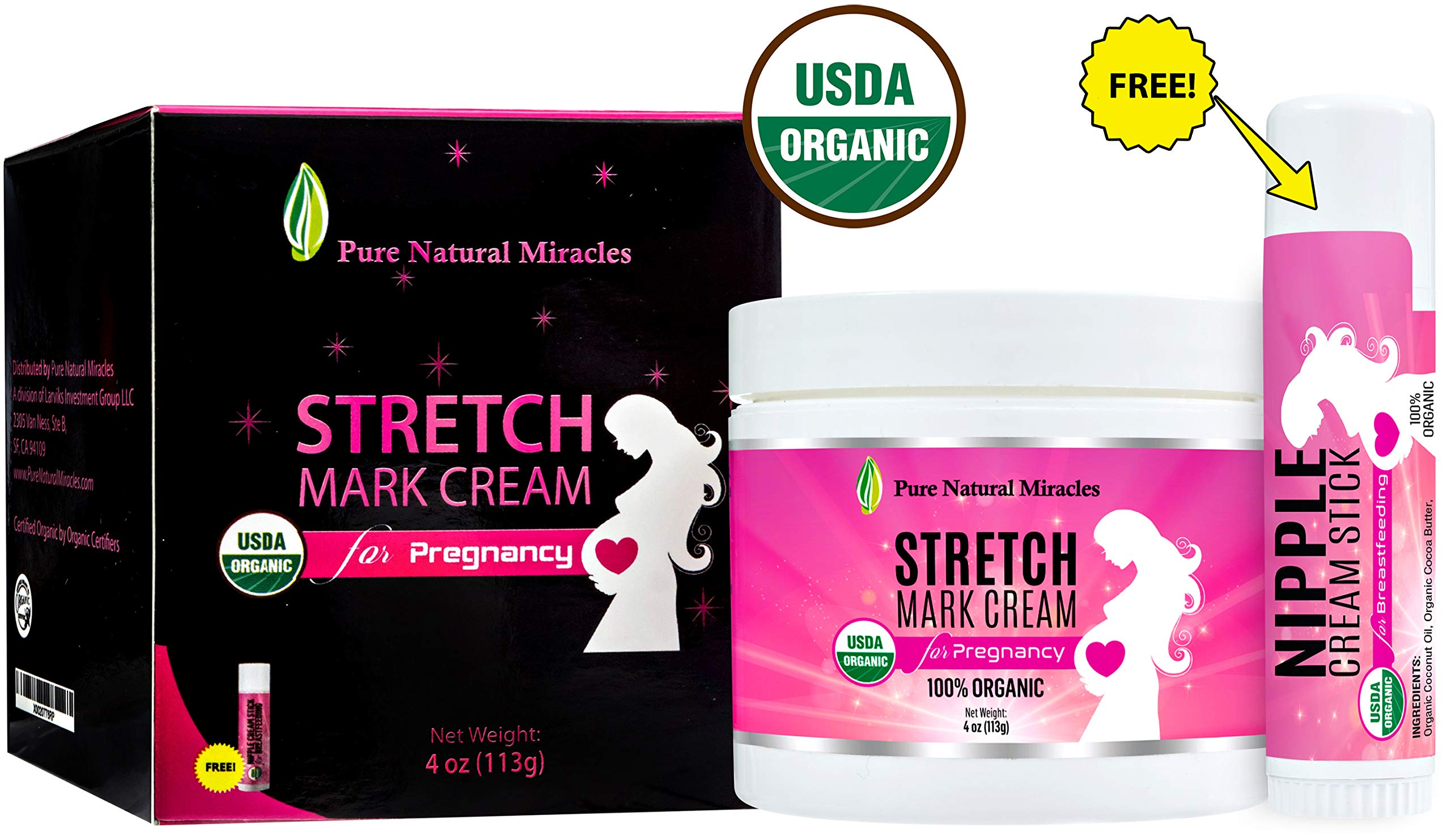 PNM Anti Stretch Mark Cream for Pregnancy, Organic