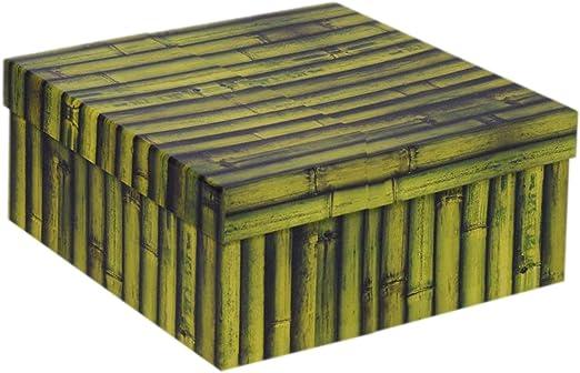 Vacchetti S.p.A - Caja de cartón Decorada de bambú, 30 x 22 x 11,5 ...