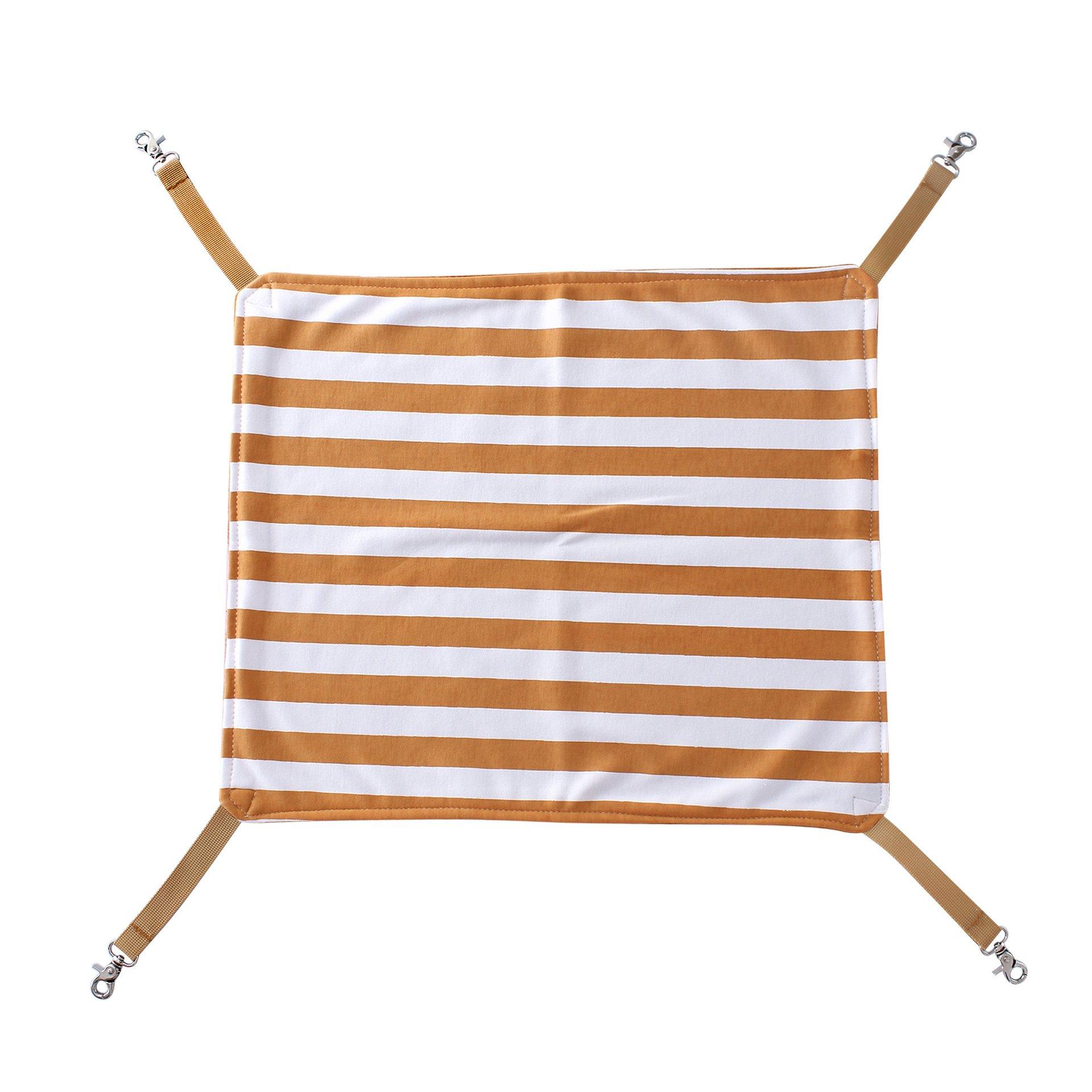 Pethouzz Pet Cat Cage Hammock Cat Pad Mat Kitten Hanging Bed (Large, Brown)