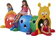 ECR4Kids GUS Climb-N-Crawl Caterpillar Tunnel, Indoor and Outdoor Fun Kids' Play Structure, Expandable with Other Sets, Certi