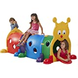 ECR4Kids GUS Climb-N-Crawl Caterpillar Tunnel, Indoor and Outdoor Fun Kids' Play Structure, Expandable with Other Sets, Certified and Safe, Ready to Assemble, 7 Feet Long