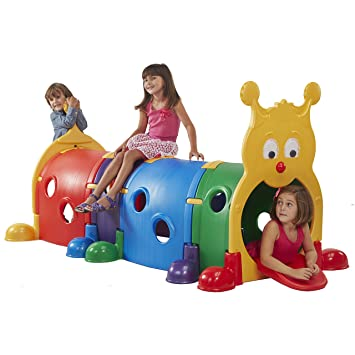 ECR4Kids GUS Climb-N-Crawl Caterpillar Tunnel, Indoor and Outdoor Fun Kids'  Play Structure, Expandable with Other Sets, Certified and Safe, Ready to