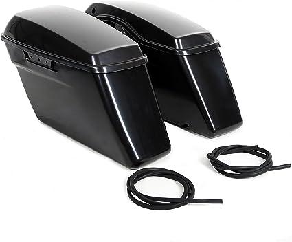 Unpainted Black Upper Saddlebags Lids Saddle Bag Cover For Harley 2014-2019 2018