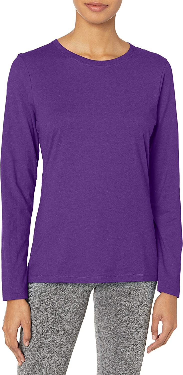 TALLA S. Hanes Womens Long-Sleeve Crewneck T-Shirt (O9133)
