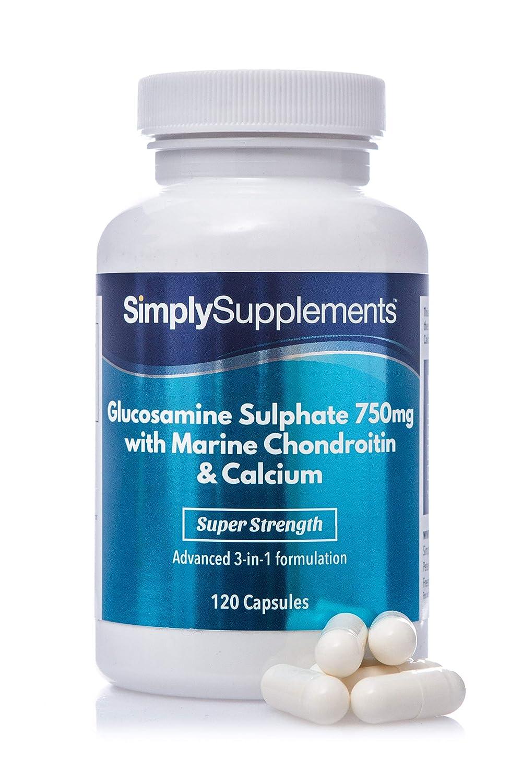 Glucosamina 750mg, condroitina y calcio - ¡Bote para 4 meses ...