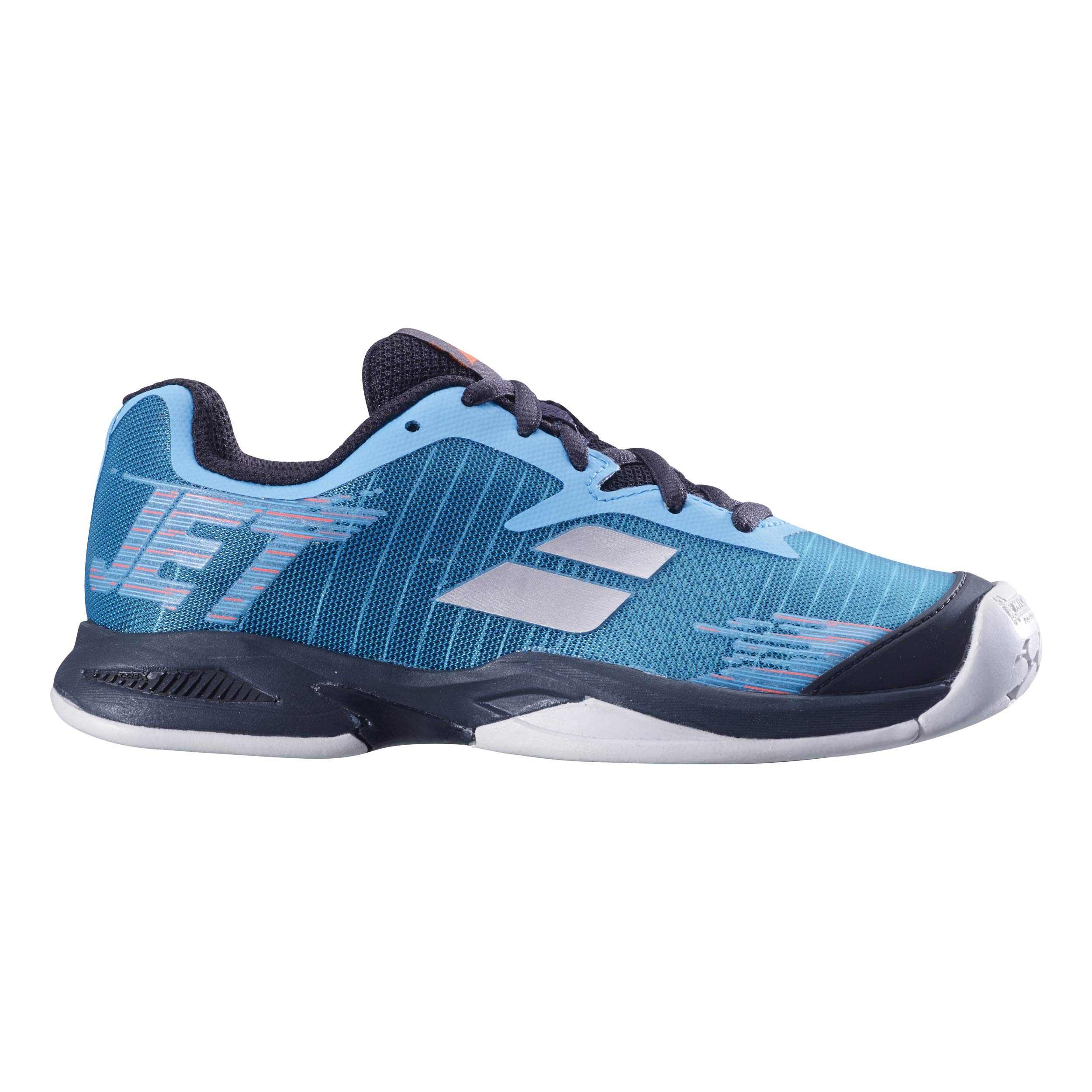 Babolat Juniors` Jet All Court Tennis Shoes Dark Blue and Black (1)