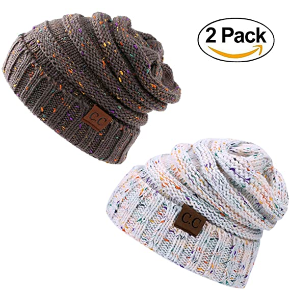 073940660268df Soft Solid Ribbed Stretch Cable Knit Faux Fur Pom Pom Beanie Hat ...