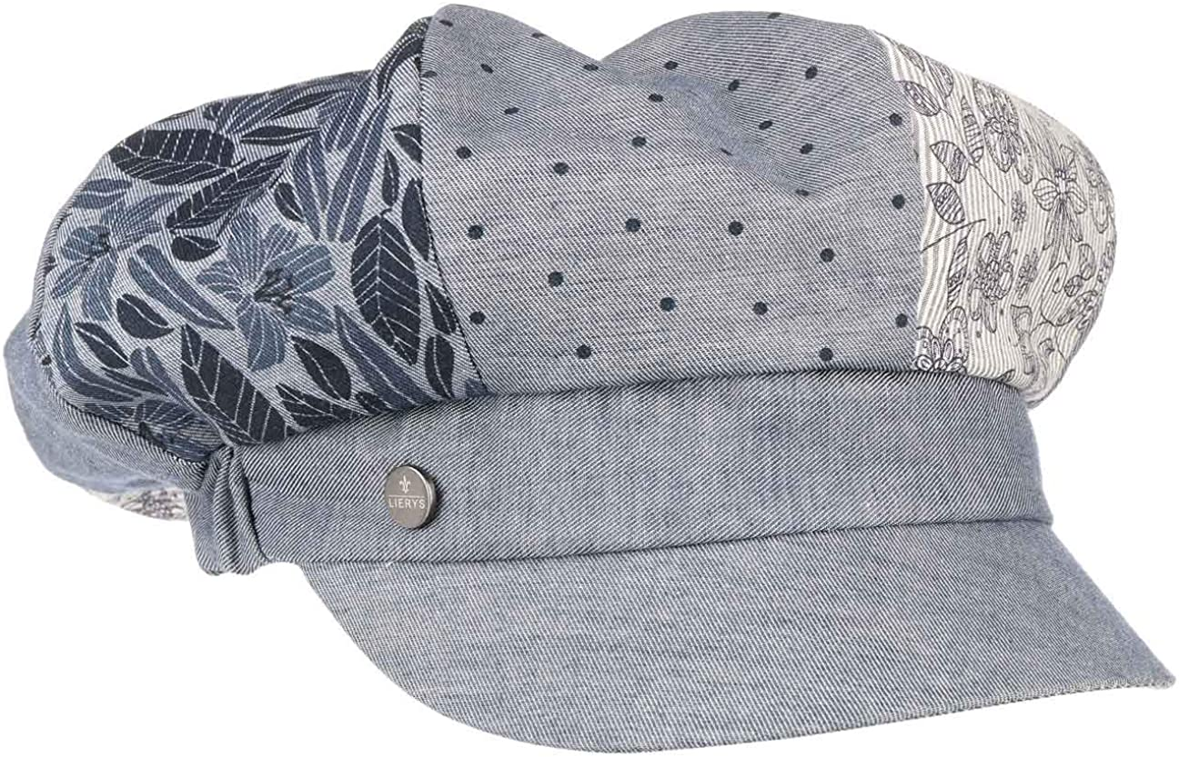 Made in Italy Peaked caps Baker boy hat with Peak Lining Lining Spring-Summer Lipodo Avella Cotton Newsboy Cap Women