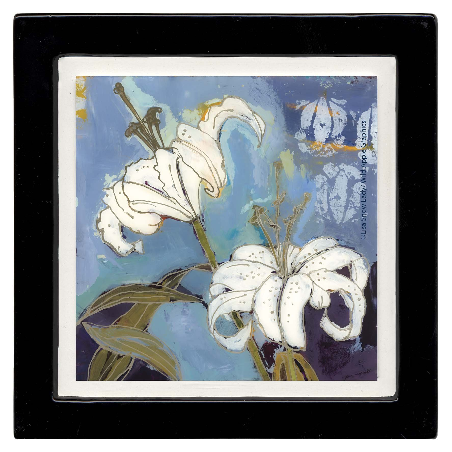 Thirstystone Ambiance Coaster Set, Lily White, Multicolored by Thirstystone