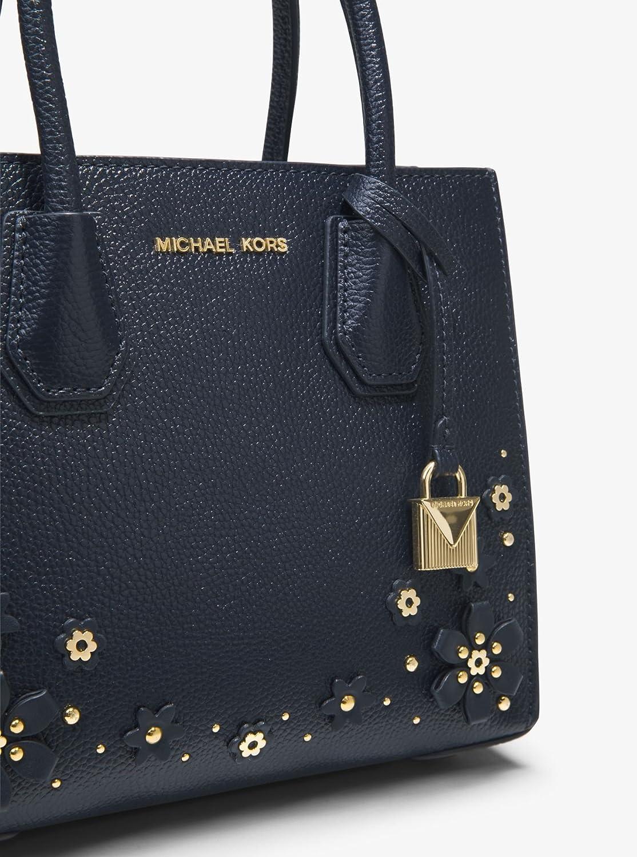 9032994c732b MICHAEL MICHAEL KORS Mercer Medium Floral Embellished Leather Crossbody  (Admiral): Handbags: Amazon.com