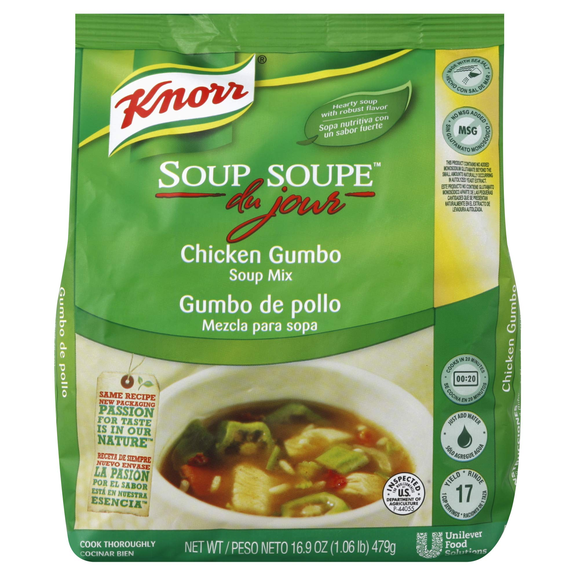 Knorr Soup du Jour Mix Chicken Gumbo 16.9 ounces 4 count by Knorr