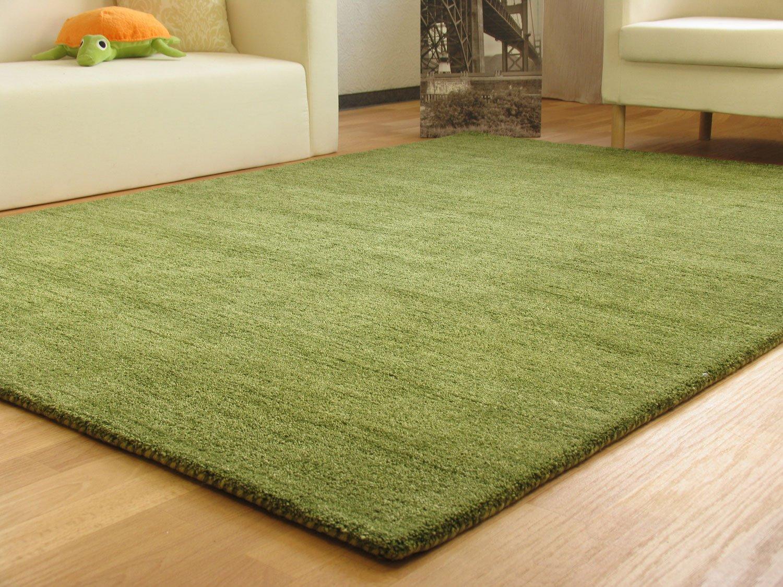 Gabbeh Teppich Nomade - Handarbeit aus 100% Schurwolle - grün, Größe  160x230 cm