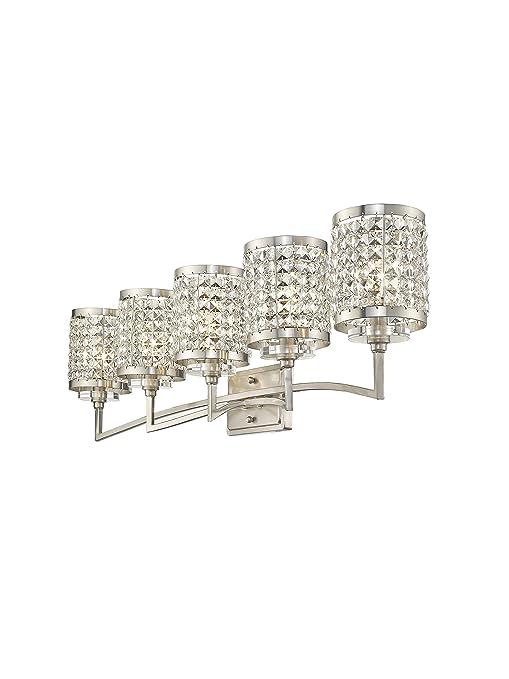 Amazon.com: livex lighting 50565 grammercy 5 mueble de baño ...
