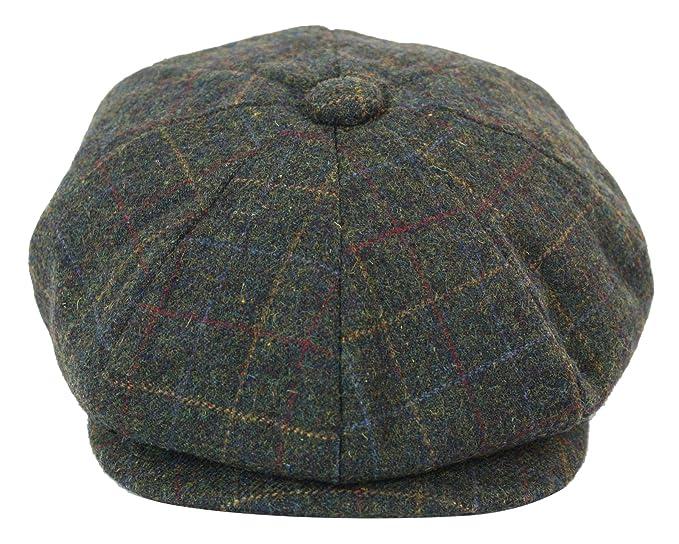 8ba3675787 King Berretto in Tweed da Uomo Stile Peaky Blinders 8 Spicchi Motivo a  Scacchi grigio scuro-scacchi xxl(60cm): Amazon.it: Abbigliamento