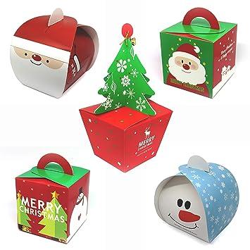 5 cajas de regalo para Navidad | Juego de 5 Designs | brillante regalo de cajas