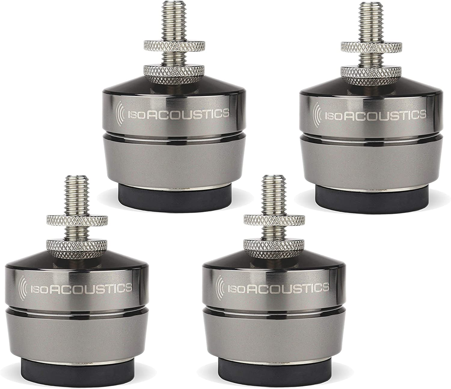 IsoAcoustics Gaia Series Isolation Feet for Speakers & Subwoofers (Gaia III, 70 lb max) – Set of 4