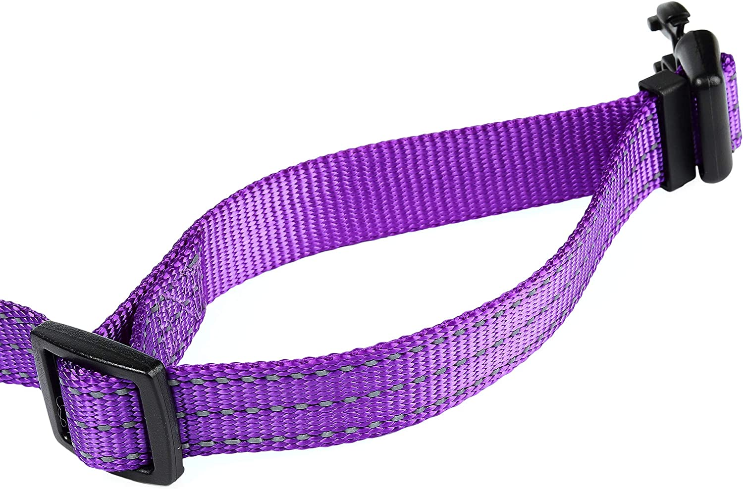 Nylon with Reflective Three 3M Straps Mile High Life Dog Collar Lime Green Small 5//8 Neck 12-17 -20 lb
