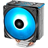 DEEPCOOL GAMMAXX GT BK, CPU Air Cooler, SYNC RGB Fan and RGB Black Top Cover, Cable or Motherboard Control Supported, 4 Heatp