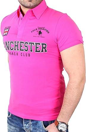 Reslad Polo Hombre Club Wear Cuello de Camisa Polo Manchester RS ...