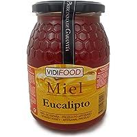 Miel de Eucalipto - 1kg - Producida en España - Alta Calidad, tradicional & 100% pura - Aroma Amaderado Intenso, Sabor Rico y Dulce - Amplia variedad de Deliciosos Sabores
