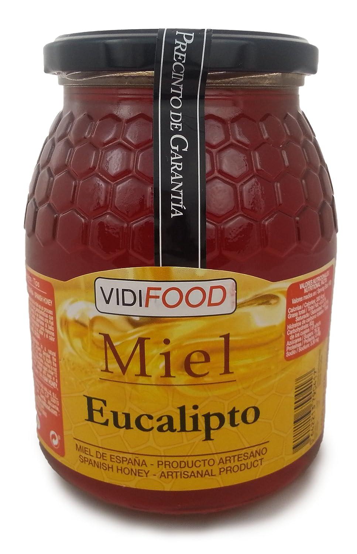 Miel de Eucalipto - 1kg - Producida en España - Alta Calidad, tradicional & 100% pura - Aroma Amaderado Intenso, Sabor Rico y Dulce - Amplia variedad de ...