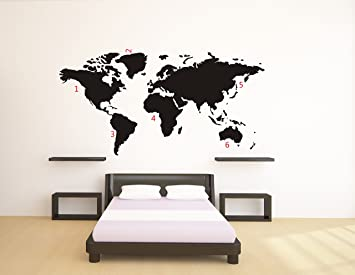 Stickers Maison Du Monde. Large World Map Wall Decal Sticker Ft X