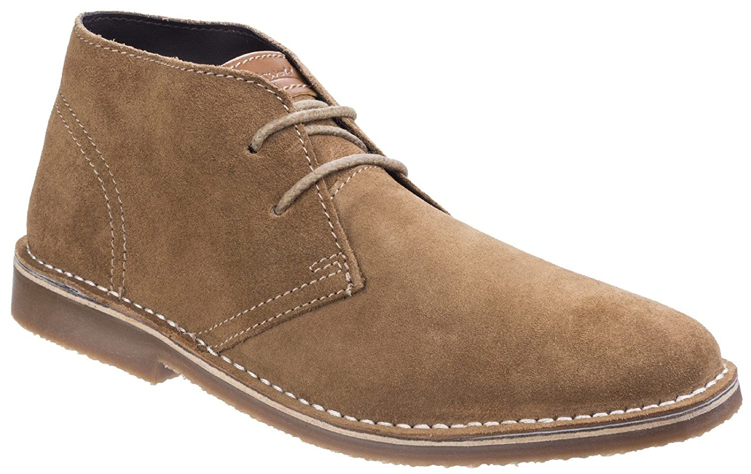 Tan Cotswold Mens Fairford Suede Leather Light Smart Casual Desert Stiefel