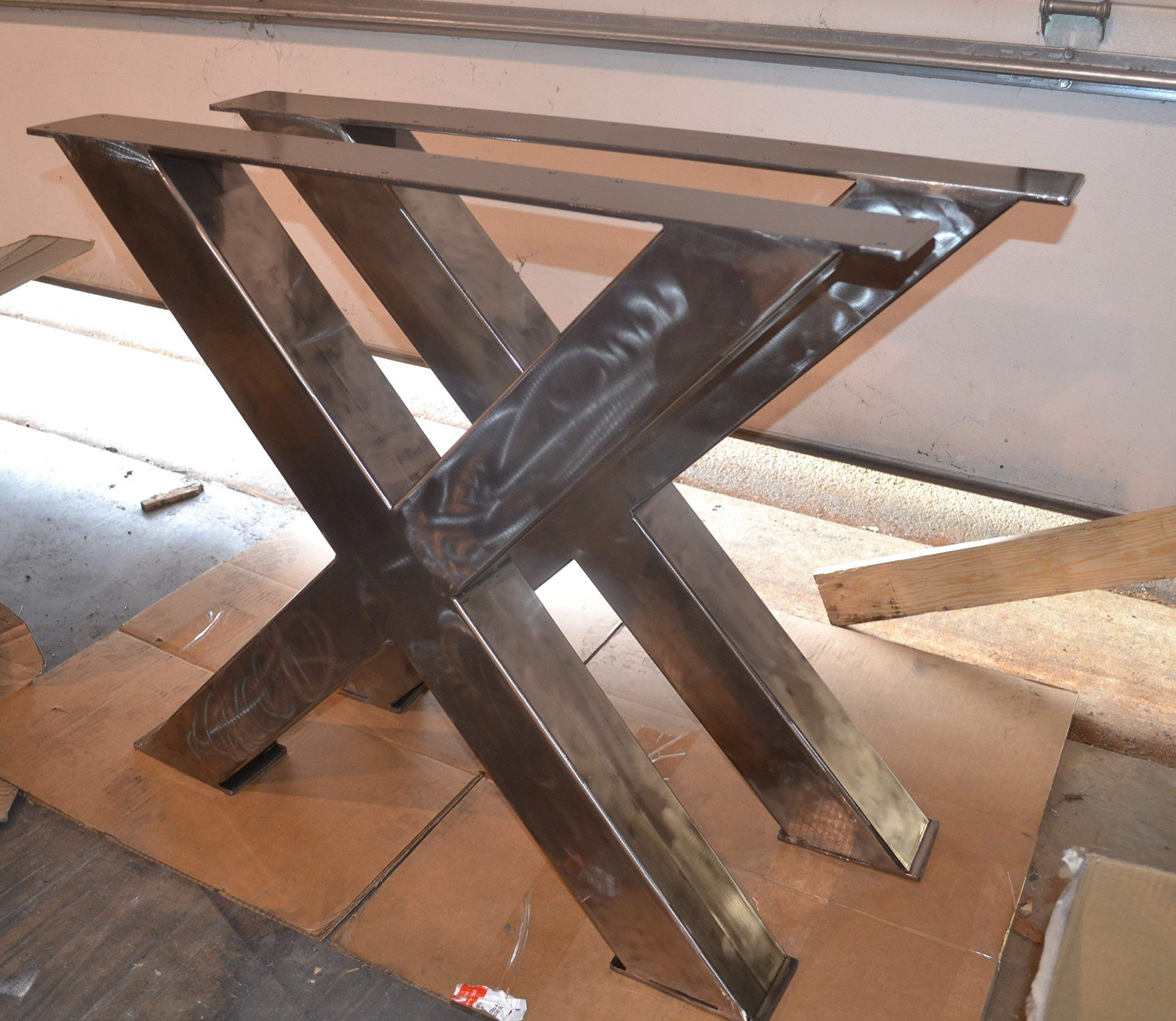 Metal Table Legs, X-Frame Style - Any Size and Color