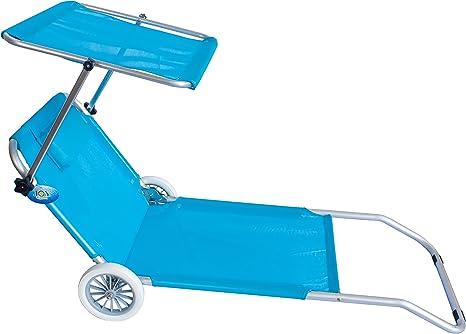 Sdraio Per Spiaggia Con Ruote.Spiaggina Con Ruote Trolley Sedia Sdraio Con Posizione Mare Spiaggia Piscina Azzurro