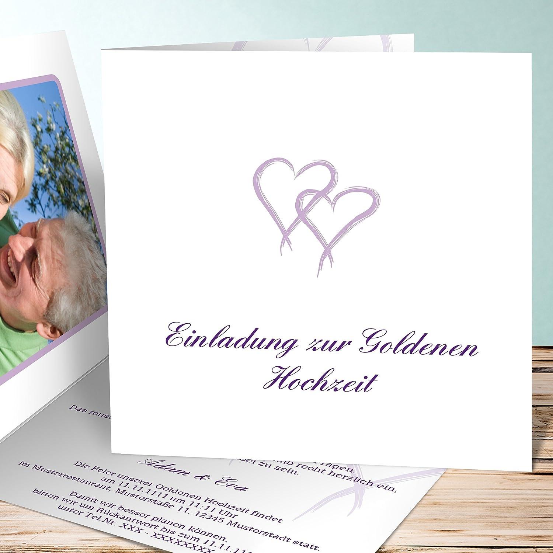 Goldene Hochzeit Einladung Vorlage Mein Herz 120 Karten