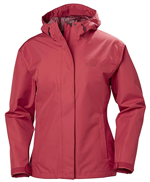 Helly Hansen Womens Seven J Waterproof, Windproof, and Breathable Rain Jacket with Hood