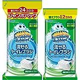 【Amazon.co.jp 限定】【まとめ買い】 スクラビングバブル トイレ洗剤 流せるトイレブラシ フローラルソープ 付替用36個セット(24個入+12個入セット)