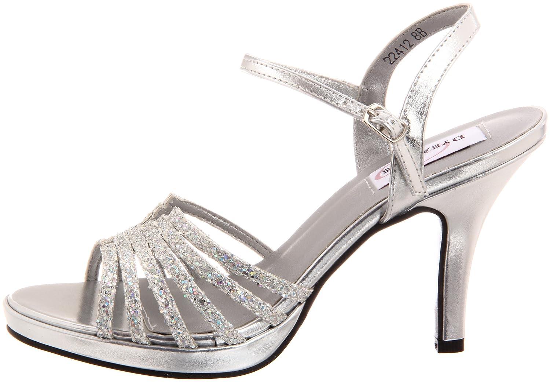 Dyeables Women's Leah Platform B B005WQRABY 9 B Platform US|Silver Glitter 0302e7