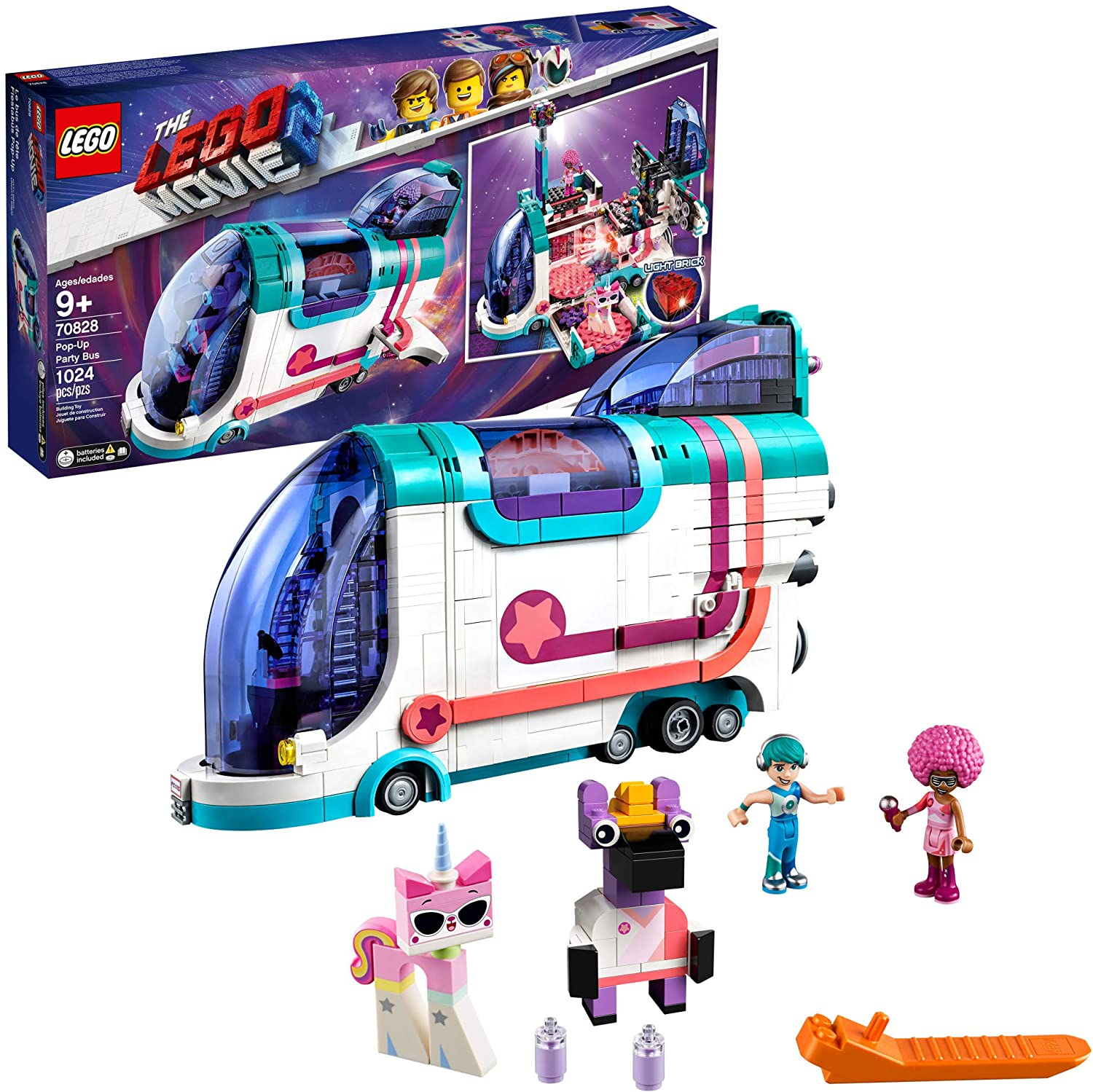 LEGO THE LEGO MOVIE 2 Pop Up Party Bus 70828 Building Kit, Build Your Own Toy Party Bus for 9+ Year Old Girls and Boys (1013 Pieces)