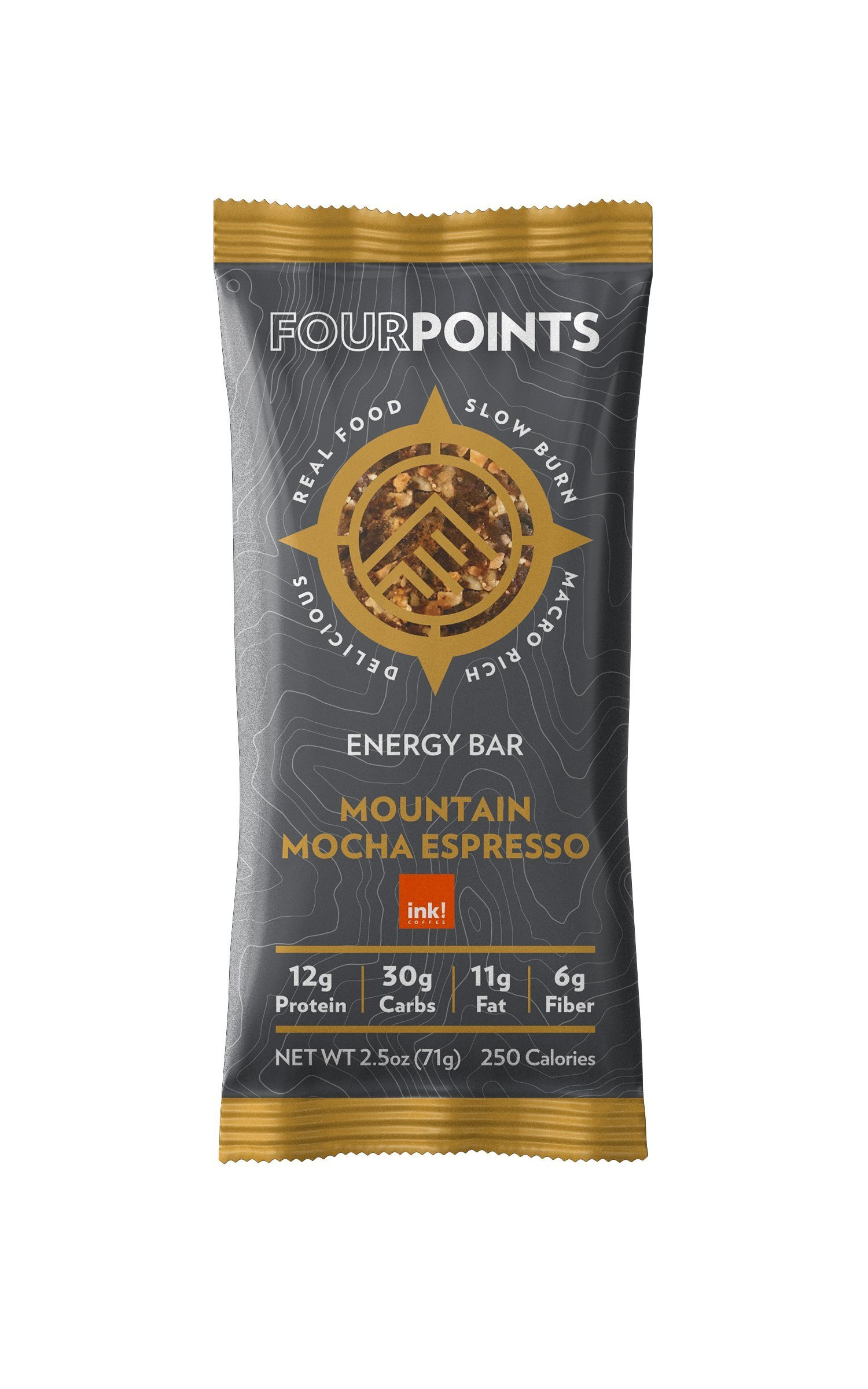 Fourpoints Mountain Mocha Espresso Bar - Box of 12 - Mountain Mocha Espresso, Box of 12 by Fourpoints
