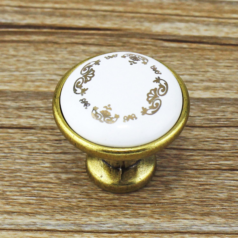 psmgoods® Flower Muster Single Loch Runde Keramik Türknauf Vintage ...