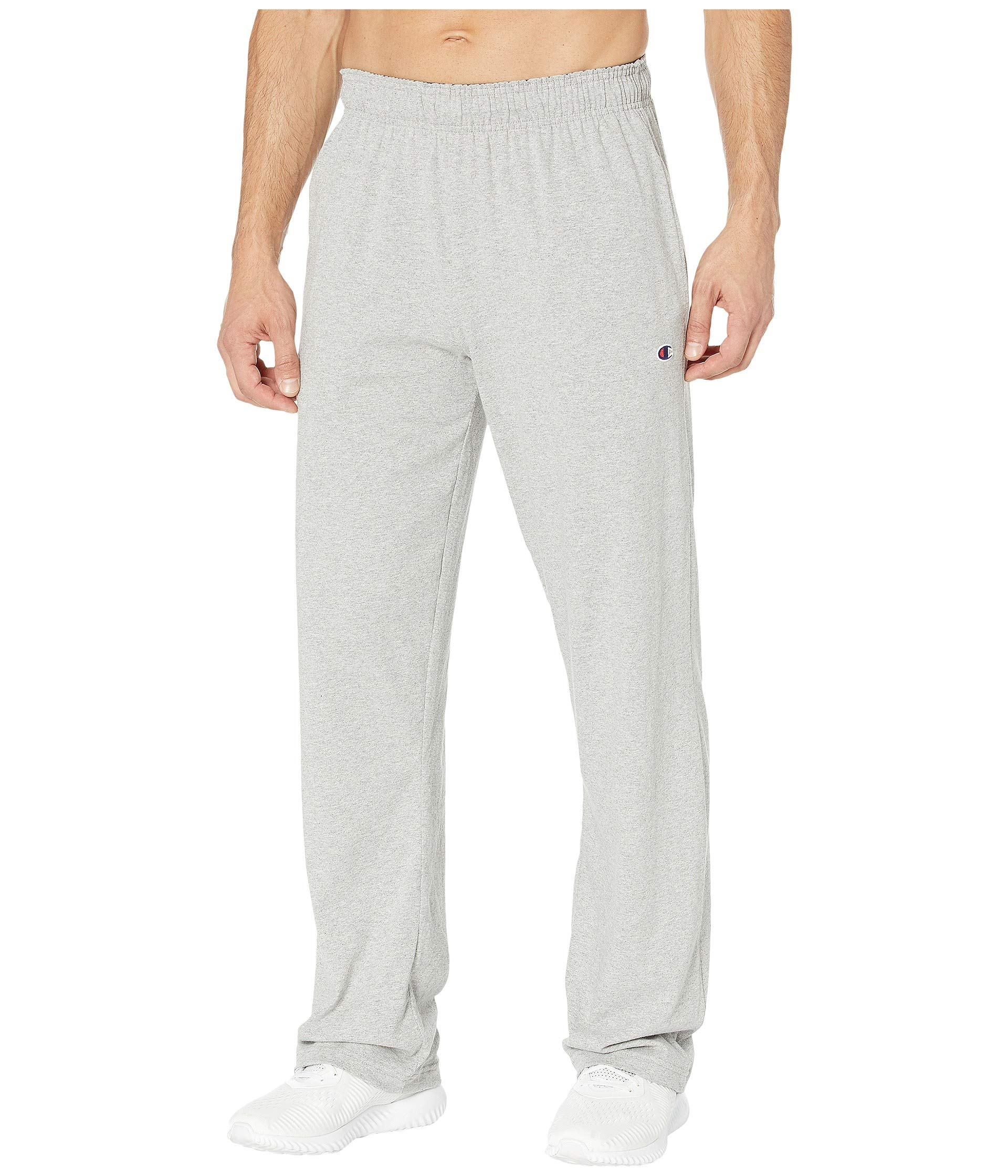 Champion Classic Jersey Open Bottom Pants Oxford Gray 2XL by Champion