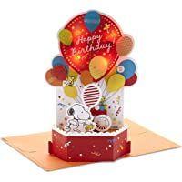 Hallmark Paper Wonder Peanuts Pop Up Birthday Card with Music (Snoopy, Birthday Balloons)