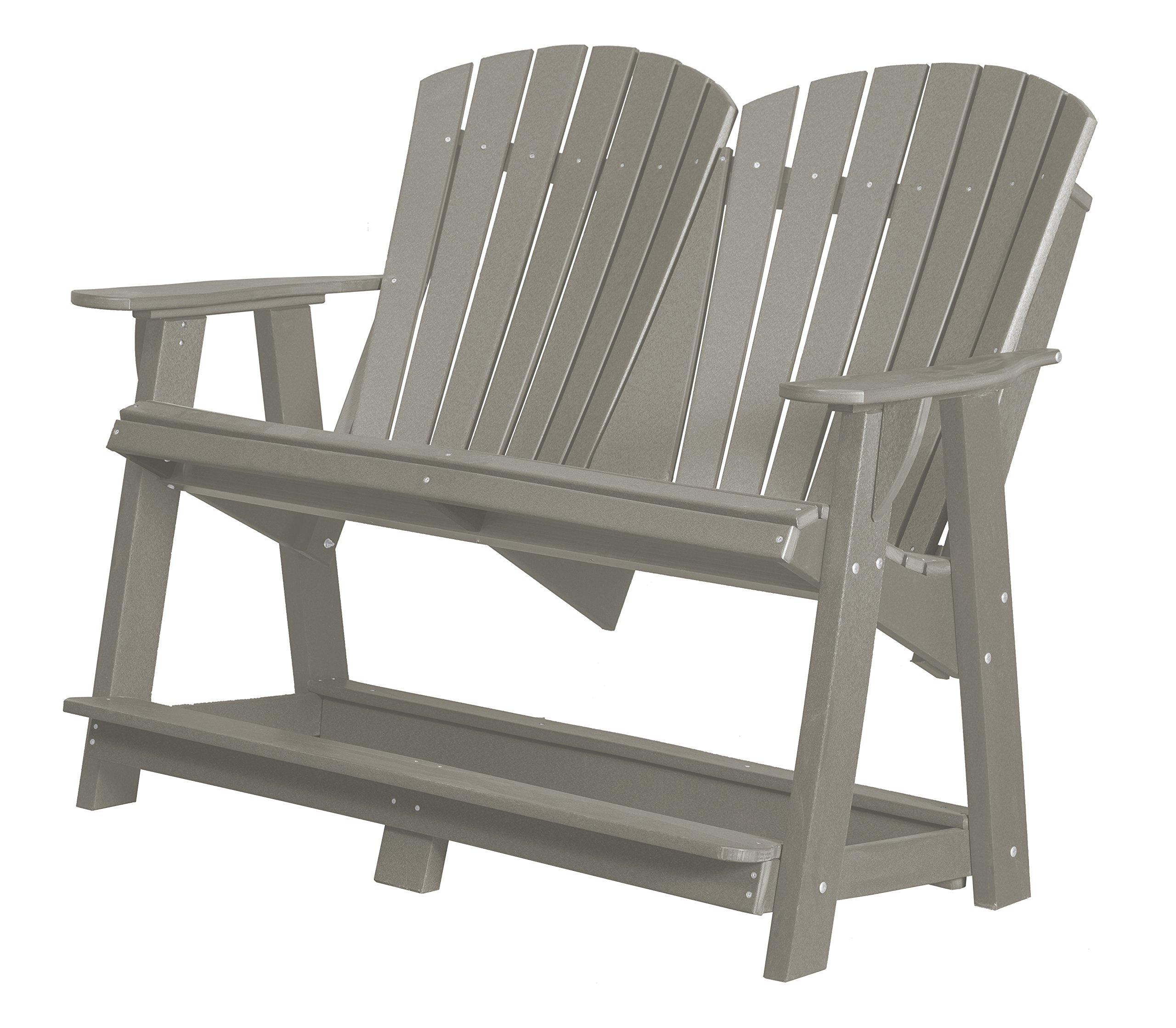 Little Cottage Company Heritage Double High Adirondack, Light Gray by Little Cottage Company