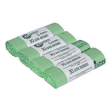 All-Green - Bolsas biodegradables (30 L, 40 unidades)