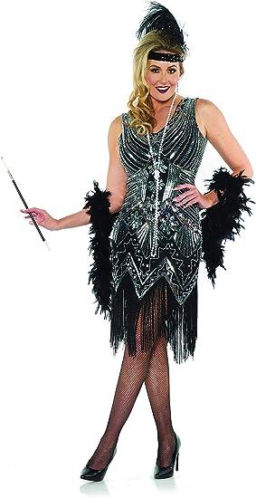 Flapper Necklace Roaring 20s Girl Costume Beads Halloween Fancy Dress